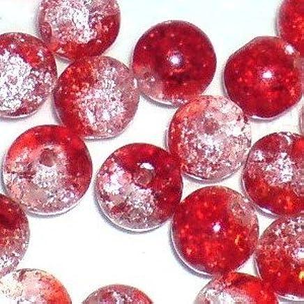 K2-accessories 200/pi/èces 6/mm Perles en Verre Craquel/é/ /Rouge fonc/é/ /a1619-a