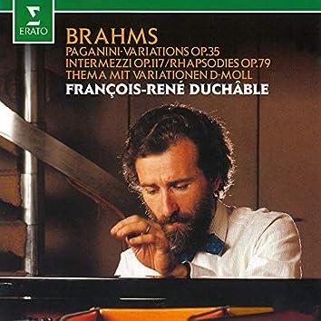 Brahms: Paganini Variations, Op. 35, Intermezzi, Op. 117 & Rhapsodies, Op. 79