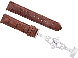 22MM LEATHER WATCH STRAP BAND FOR BAUME MERCIER CLASSIMA 8692, 8733 L/BROWN T/Q