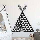 Lindo triángulo tribal pegatinas de pared para la habitación del bebé arte de la pared calcomanías niños dormitorio pegatinas de pared A1 XL 58cmx69cm