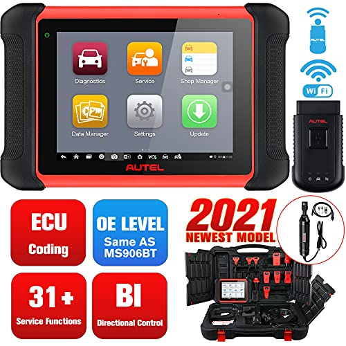 Autel MaxiCOM MK906BT with MV108 [Valued $59], Same as MS906BT MS908, 2021 Newest Automotive Diagnostic Scan Tool, Advanced ECU Coding, Active Tests, 31+ Services, OE-Level All Systems Diagnosis