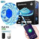 """【Smartphone-Steuerung】 Es funktioniert mit der App namens """"Smart Life"""". Alle Farben wählbar von diesem 5050 LED Streifen RGB, das Produkt bietet Ihnen tatsächlich eine Farbdisc. 16 Millionen Farben, Multi-Scene-Modi.Nach der ersten Verbindung wird be..."""