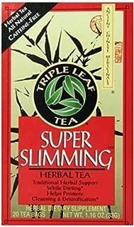 Triple Leaf Tea, Tea Bags, Super Slimming, 20 Count (Pack of 6)
