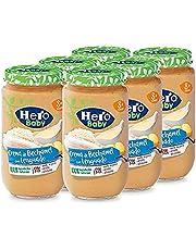 Hero Baby - Lenguado con Crema de Bechamel Tarritos de Puré para Bebés a partir de 8 meses, Pack de 6 x 235 g