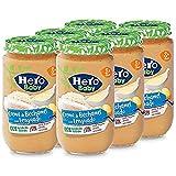 Hero Baby Lenguado con Crema de Bechamel Tarritos de Puré para Bebés a partir de 8 meses Pack de 6 x 235 g