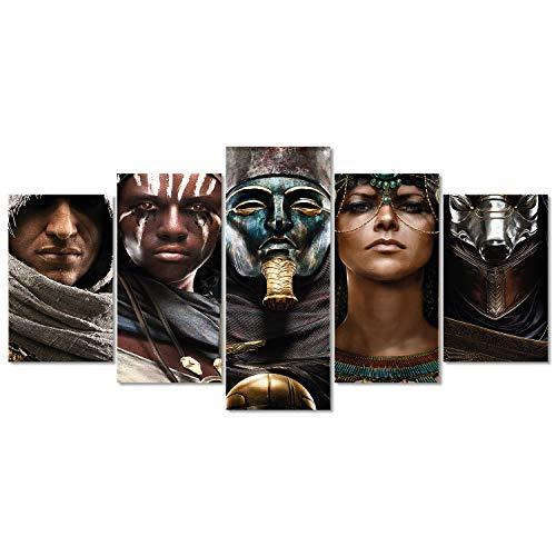 Quadro Decorativo Mosaico Jogo Assassins Creed Origins Sala