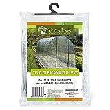 VERDELOOK Telo di Ricambio in PVC Trasparente per Serra orto a Tunnel codice 647/14