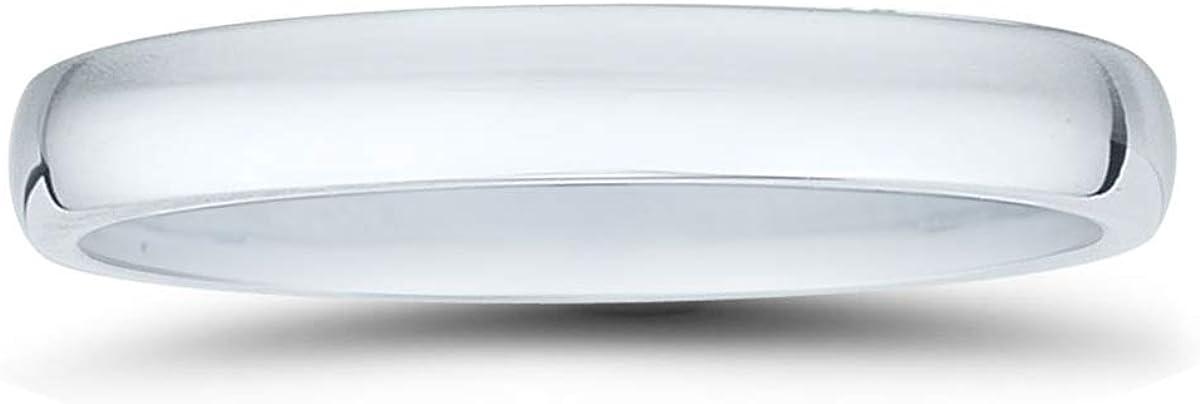 Platinum 3mm Domed Comfort Fit Wedding Band