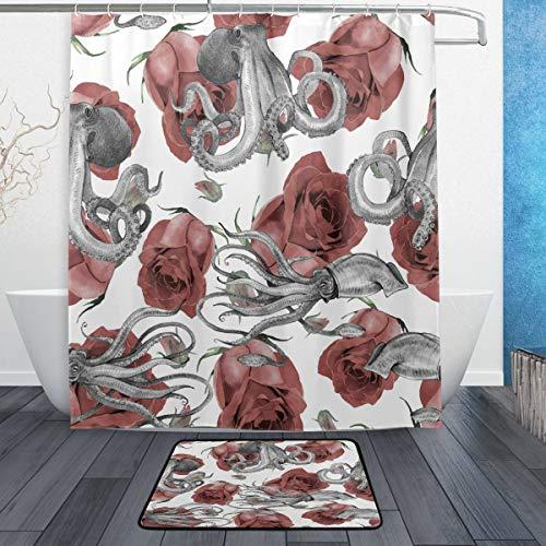 cortinas baño tela rosa