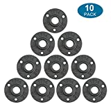 10Pcs 1/2-INCH Floor Flange Industrial Steel Malleable Cast Iron Pipe Fittings Retro Decor...