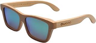 576fbf6d71 Iwood Artesanal de bambú natural Marcos polarizado lente verde gafas de sol  de madera