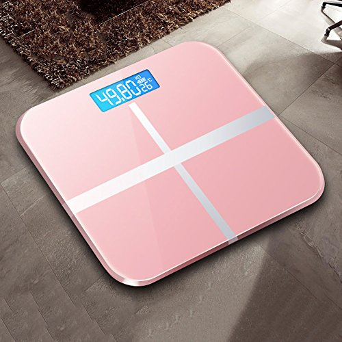 Body Weight Scales, Step-On Digital Bathroom Scale Backlight Weight Scales with Temperature Display (Rose Gold)