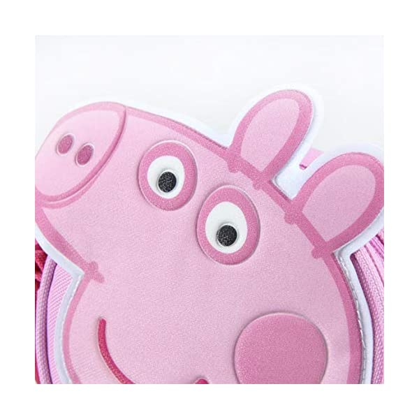 ARTESANIA CERDA Bolso Bandolera Peppa Pig, Mochila para Niñas, Negro (Negro), 5x14x14 cm (W x H x L)