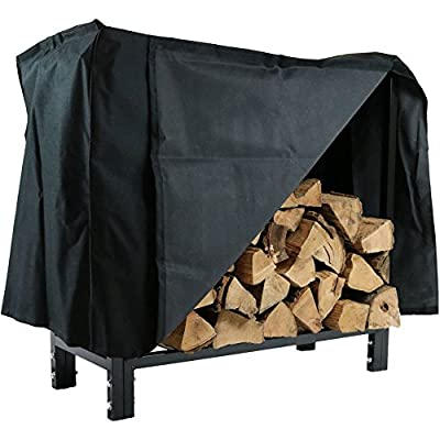 Sunnydaze 30 Inch Firewood Log Rack with Cover, Indoor or Outdoor Wood Storage