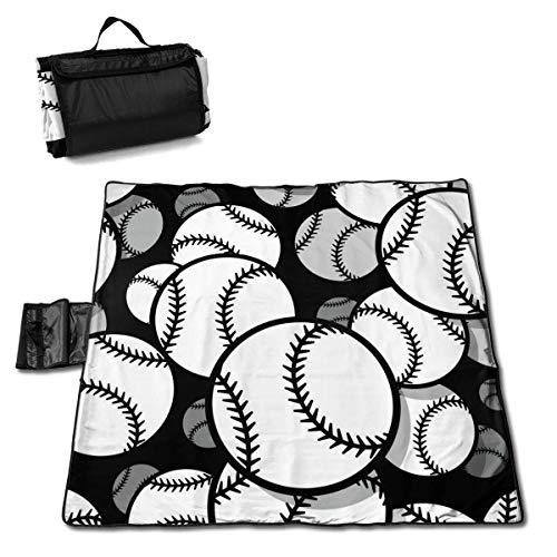 End Nazi Retro Baseball Schnürsenkel Kunst Muster Picknickdecke Mit Handtragen Outdoor Picknick Matte Für Camping Beach Park Rasen