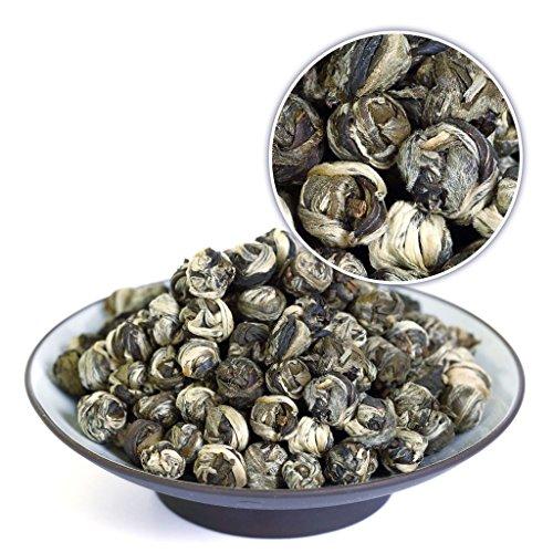 GOARTEA 100g (3.5 Oz) Organic Supreme King grade Jasmine Dragon Pearl Ball Loose Leaf Chinese Green TEA Tee