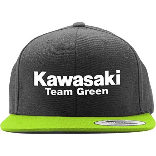 Factory Effex Youth Kawasaki Team Green Trucker Hat (Black/Green)