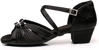 YKXLM Mujeres&Niña Zapatos Latinos de Baile Zapatillas de Baile de salón Salsa Tango Performance Calzado de Danza,ESWHXGG