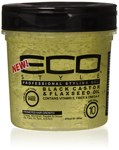 Eco Style Black Castor and Flax Seed Oil, 473 ml