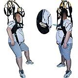 Imbracatura per Sollevapersone Standing Cinghia di Trasferimento Medica Supporto per la Posizione Eretta e per la Deambulazione Esercitatore per Gambe Ripiega Tutto il Corpo Libera AnyBack