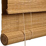 CCFCF Persianas Enrollables de Bambú, ersianas de Bambu Opacas, Adecuado para Patios/Jardines/Interiores/Exteriores Persiana Veneciana,90 * 180cm/36 * 71 in