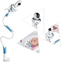 Accesorio de Velcro para monitoreo Remoto Cuna para beb/é Tipo de Brazo de Escritorio Tipo de Abrazadera de rotaci/ón de 360 Grados Ajuste de /ángulo Plegable Soporte para Monitor de beb/é