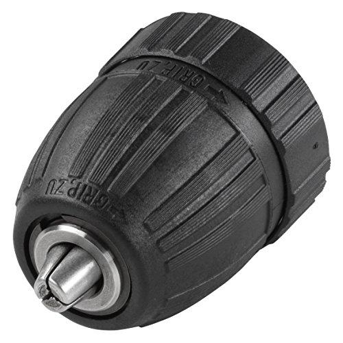 Wolfcraft 2641000 Schnellspannbohrfutter 1, 5-10 mm, Innengewinde, Rechts- und Linkslauf, für Akku-Bohrmaschinen 3/ 8 Zoll x 24