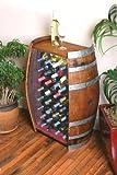 Wine Barrel Creations 32 Bottle Wine Barrel Cabinet