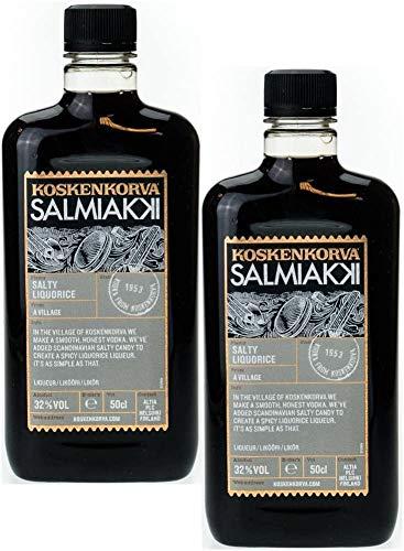 Koskenkorva Salmiakki Salty Liquorice 2er Pack (2 x 0.5l), 32% Vol.Alk.