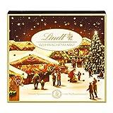 Lindt Weihnachtsmarkt Mini-Tisch-Adventskalender (24 verschiedene Mini Schokoladen-Kugeln) 115g -