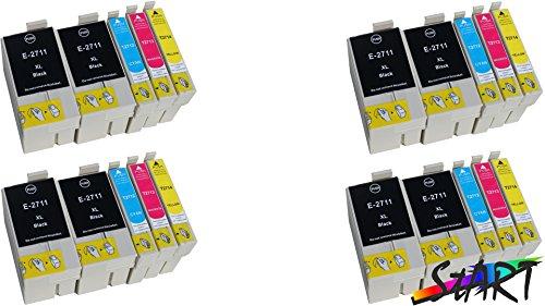 Start - 20 CHIP Cartucce compatibili per Epson 27XL, T2711XL, T2712XL, T2713XL, T2714XL (8444)