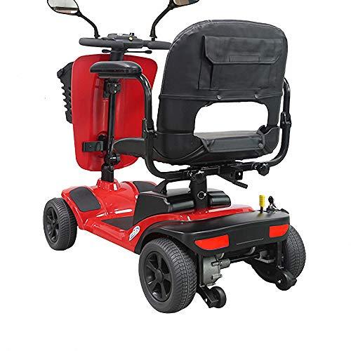 Miarui rode elektrische scooter 4-wiel seniorenmobiel e-scooter zonder rijbewijs 250W 8Km/H loopvermogen 25 km drie-versnellingsschakeling geschikt voor ouderen, gehandicapten.