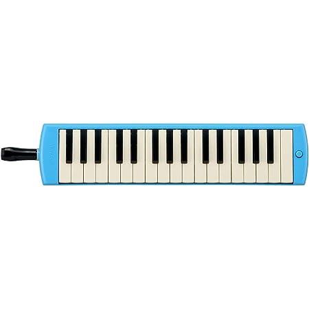 ヤマハ YAMAHA PIANICA ピアニカ 鍵盤ハーモニカ 32鍵 ブルー P-32E 子どもたちの使い勝手を追求した新しいデザイン 同系色のプラスチック製ハードケース付属
