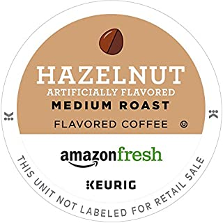 AmazonFresh 80 Ct. K-Cups, Hazelnut Flavored Medium Roast, Keurig K-Cup Brewer Compatible