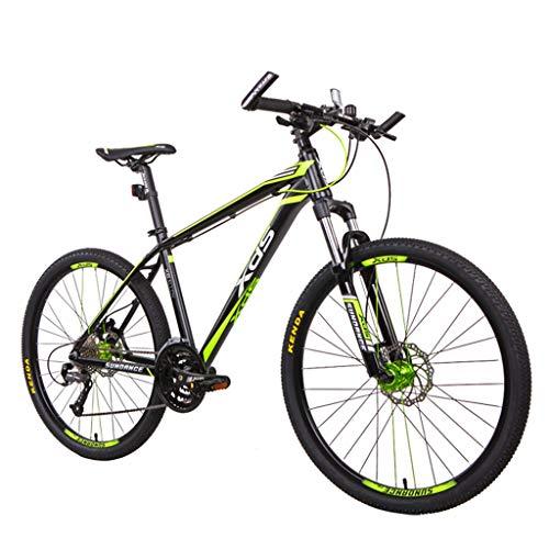 Mountainbike 27 Geschwindigkeiten Herren Hardtail Mountainbike 26 Zoll Reifen Und Aluminium Rahmen Gabel Federung,Black Green
