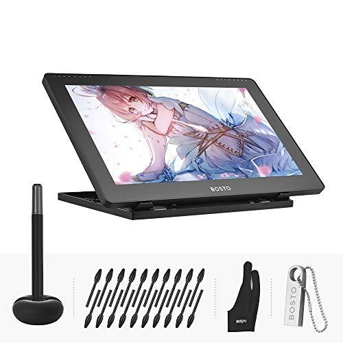 Aibecy BOSTO 16HD 15.6 pulgadas IPS Gráficos de dibujo Tableta Monitor de pantalla 1920 * 1080 Alta resolución 8192 Nivel de presión