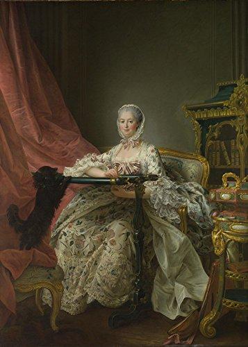 Das Museum Outlet–françois-hubert Drouais–Madame de Pompadour Sie an, Tambour Rahmen–Poster Print Online kaufen (152,4x 203,2cm)