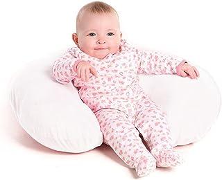 بالش پرستاری سفید ، بالش پشتیبانی چند منظوره برای کودک از 0 تا 12 ماهگی - تغذیه ، تهیه وسایل ، زمان شکم و استفاده از نشستن - پوشش پنبه ای با پر کردن ضد آلرژی - قابل حمل برای سفر