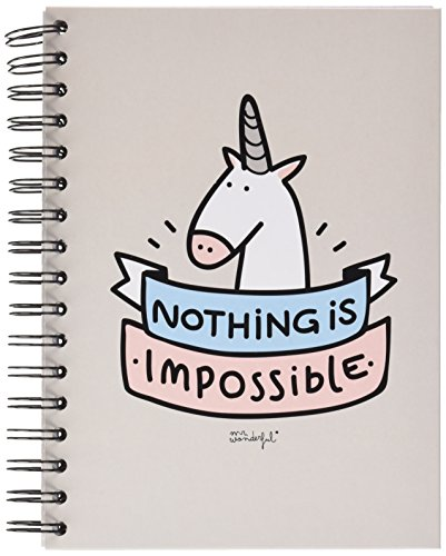 Mr; Wonderful Woa02463 Libreta De Color Con Mensaje 'Nothing Is Impossible'