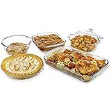 Libbey Baker's Basics 5-Piece Glass Casserole Baking Dish Set...