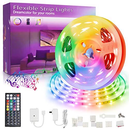 Lifeholder LEDテープライト 5m 声・音楽と同期 リモコン付き 両面テープ 調光調色 DIY可能 RGBテープライ...