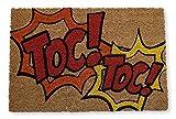 KOKO DOORMATS felpudos Entrada casa Originales, Fibra de Coco y PVC, Felpudo Exterior TOC TOC, 40x60x1.5 cm   Alfombra Puerta Entrada casa Exterior   Felpudos Divertidos para Puerta