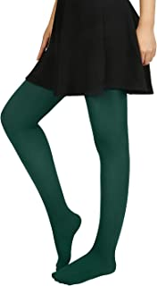 HDE Women's Solid Gradient Color Stockings Opaque Microfiber Footed Tights