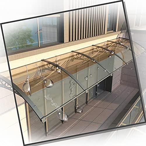 XUEXUE Marquesina Puertas Exterior, Marquesina con Aleros para Techos 2,5 Mm De Espesor Silencio Panel De Policarbonato Resiste La Corrosión, Refugio Protector De Lluvia (Size : 60x300cm)