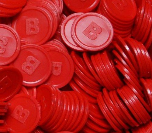 500 Pfandmarken -B- in 14 Farben zum TOP-Preis!! - (Variante Rot)