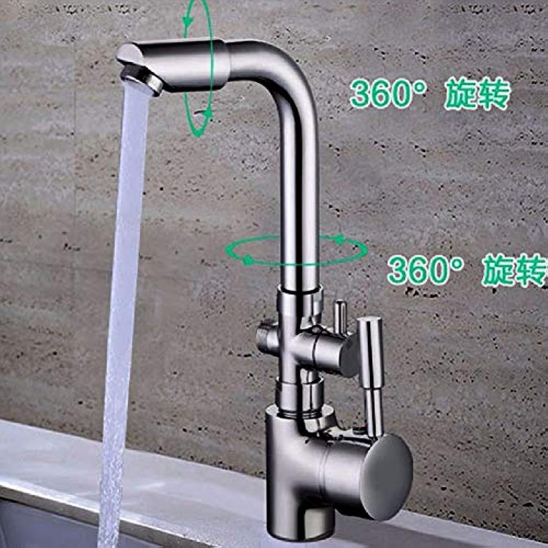 Wasserhahn Küche Waschbecken Badezimmer Spüle Wasserhahn Messing Konstruiert Poliert Vollkupfer Becken Wasserhahn Heie und Kalte Einlochmontage Einhand-Multifunktions-Küchenarmatur