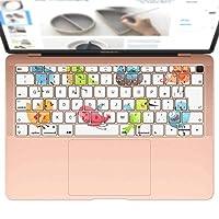 igsticker MacBook Air 13inch 2018 専用 キーボード用スキンシール キートップ ステッカー A1932 Apple マックブック エア ノートパソコン アクセサリー 保護 009630 鳥 キャラクター 動物