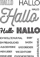 DIYスクラップブッキングフォトアルバム用ドイツのハロー透明クリアシリコンスタンプシール装飾クリアスタンプM1235