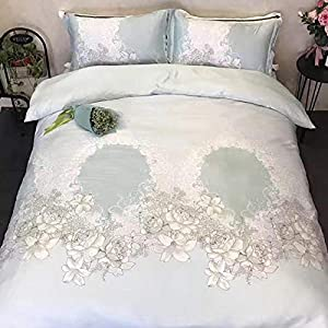CHOU DAN Silk Bedding Sets Double,Spring and Summer Double-Sided Silk Silky Nude Sleeping ice Silk Sheet Duvet Cover Bed