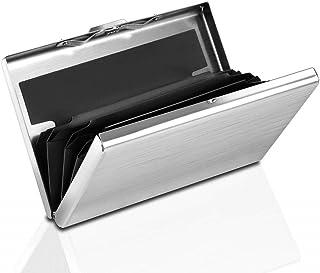 Dlife RFID Blocking Wallet | Slim Secure Metal Contactless Card Protector for Men Women, RFID Card Holder for 6 Credit Car...